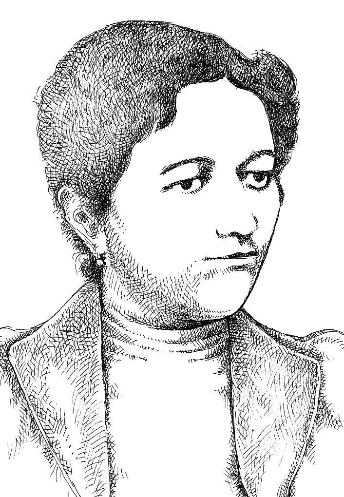 Krüzselyi  Erzsébet portréja