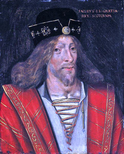James I., King of Scotland portréja