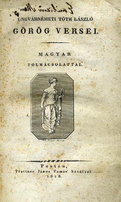 Ungvárnémeti Tóth László portréja