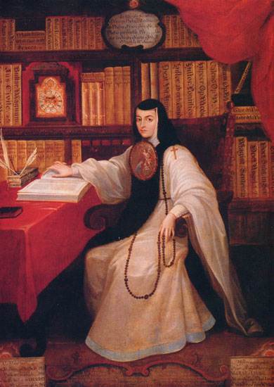 Sor Juana Inés de la Cruz portréja