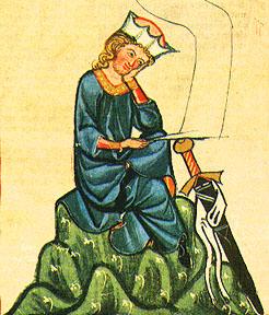 Vogelweide, Walther von der portréja