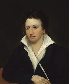 Portre of Shelley, Percy Bysshe