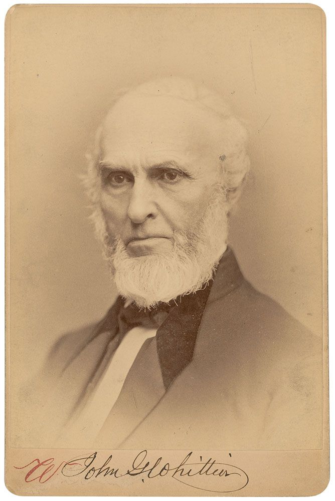 Whittier, John Greenleaf portréja