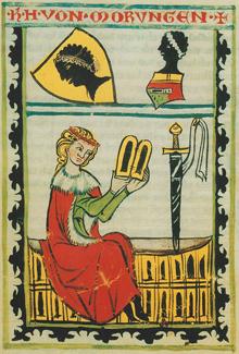 Morungen, Heinrich von portréja